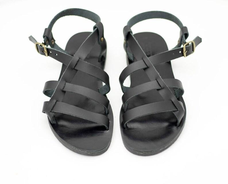 2587af752 Men sandals strappy black summer shoes gift for him