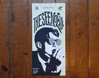 Screen Printed Tour Poster for The See No Evils (Sixties influenced Garage Pop) - Germany 2017 by OR8 DESIGN