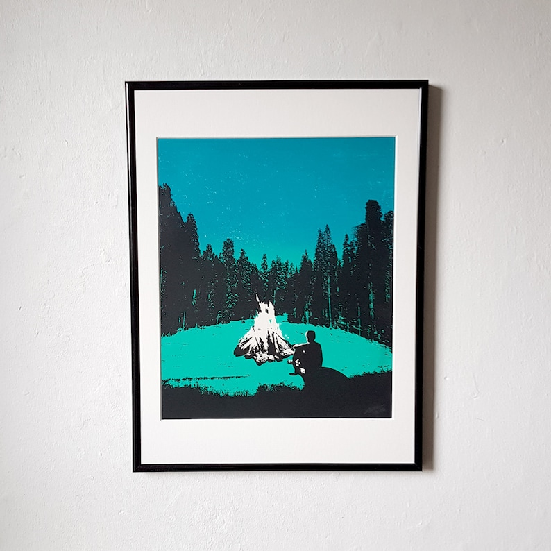 Screen Printed The Great Outdoors  Campfire Dusk image 0