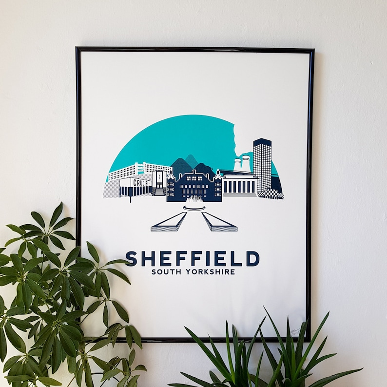 Sheffield Screen Print Art Poster City Screenprint by OR8 image 0