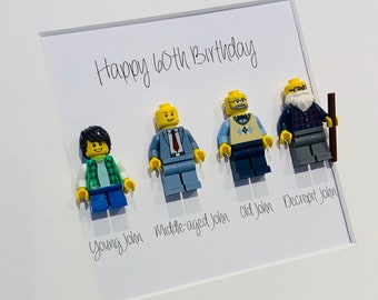 9c83c051b7a Personalised Lego Minifigure Birthday Gift 40th 50th 60th 70th Lego  minifigure Picture Frame Gift Quirky Unique Cool