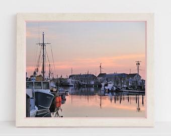 Menemsha Harbor Marthas Vineyard Photography MVY Photograph Cape Cod Islands Massachusetts Coastal Decor New England Fishing Nautical Design