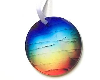 Rainbow Ornament Acrylic Holiday Ornaments Christmas Ornament Window Decorations Natural Light Spectrum Coastal Tree Rainbows