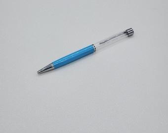 Floating fillable glitter pens grey