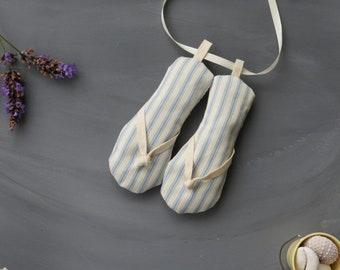 Novelty Flip Flop Lavender Bags / Lavender Shoe Bags / Beach Theme