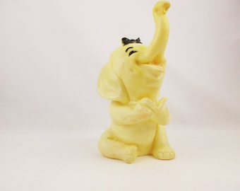 Elephant - Large Squeak Toy - A Super Happy, Rubber Elephant With a Book - 'Ashland Products Corp.' - Squeeze and Squeak Toy
