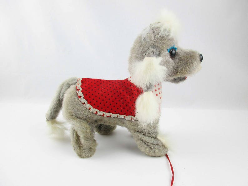 Feet Real Fur Ears Grumbles and Growls Tail Battery-operated Walking and Barking A Pretty Girl Poodle Vintage Made in Japan