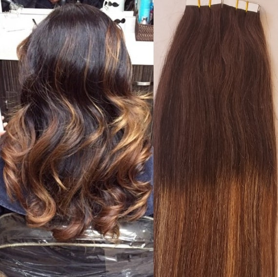 Hair Faux You 18 Ombre Balayage Tape In Hair Extensions Etsy