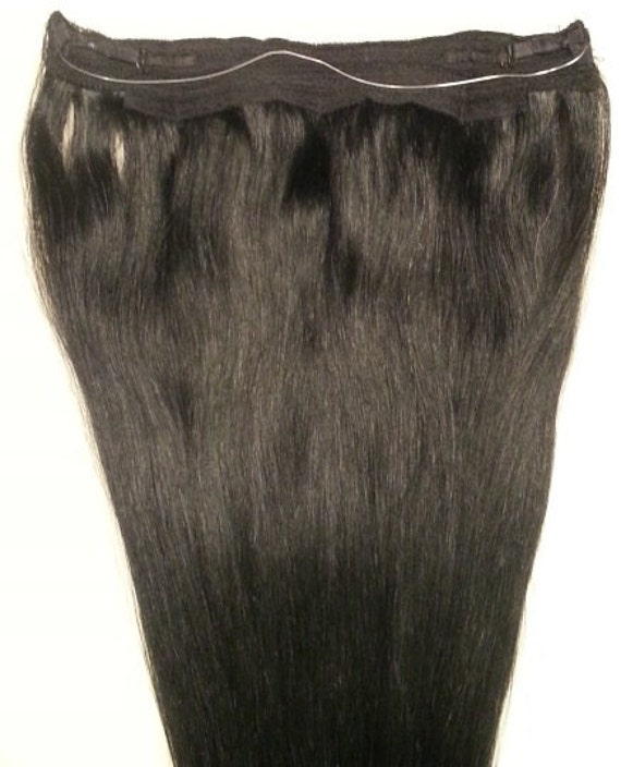 18inches 100 Halo Style Human Hair Extensions One Piece No Etsy