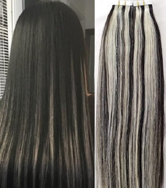 Hair Faux You 20 Highlighted Tape In Hair Extensions Etsy