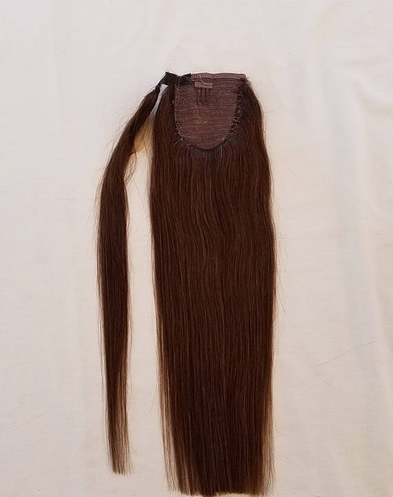 18inches 100 Human Hair Wrap Around Ponytail Hair Extensions Etsy