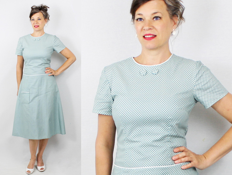 1960er Jahre Kleid / 60er Jahre Kleid / Drop-Taille Kleid /