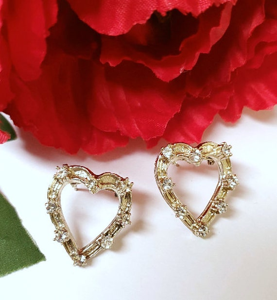 1940s Heart Dress Pins