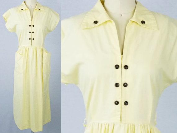1940s Dress M Medium 40s Day Vintage