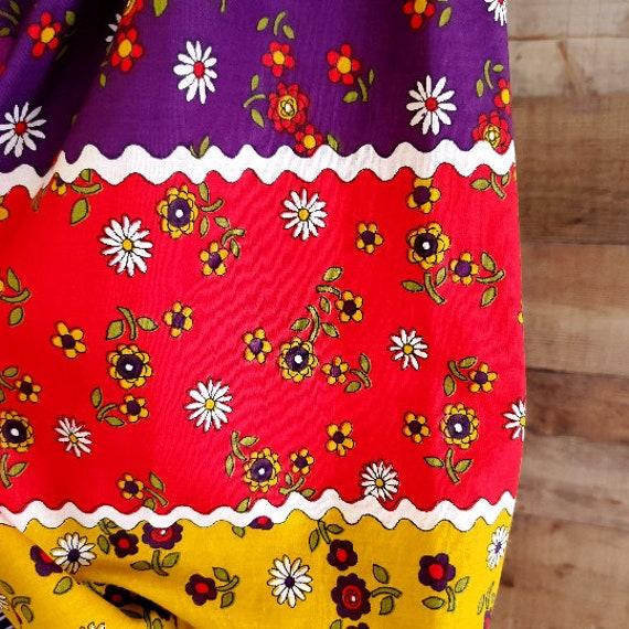 1960s Dress S Small Long Sleeve Maxi Dress - image 7