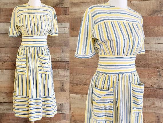 1930s Dress M Medium Cotton Day Dress