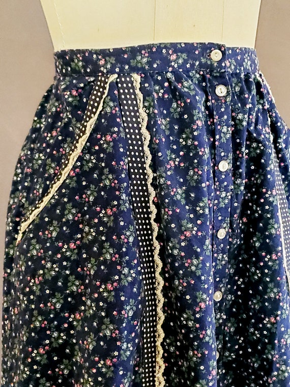 1970s Gunne Sax Skirt XS Extra Small 70s Size 2 G… - image 4
