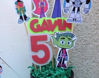 Teen Titans Go Inspired Birthday Centerpiece STICKS ONLY