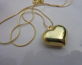 18k Gold Heart Etsy