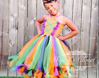 Cutie Tootie Witch Tutu Dress Halloween Costume Witch Tutu Dress