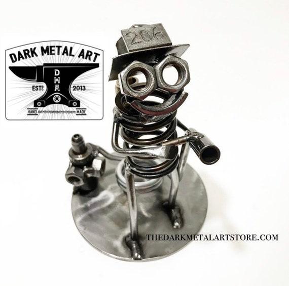 Firefighter Metal Art