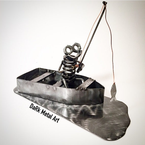 Metal Art Fisherman