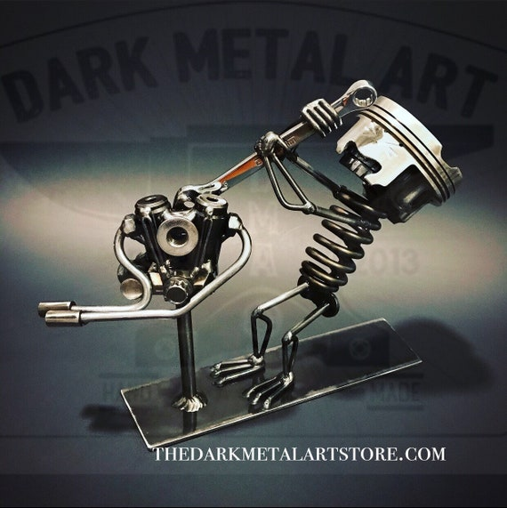 Motorcycle Mechanic Metal Art