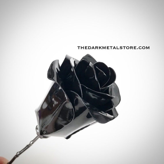 Set of 3 Black Eternity Roses
