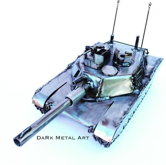 M1 Abrams Metal Art Army Tank Sculpture