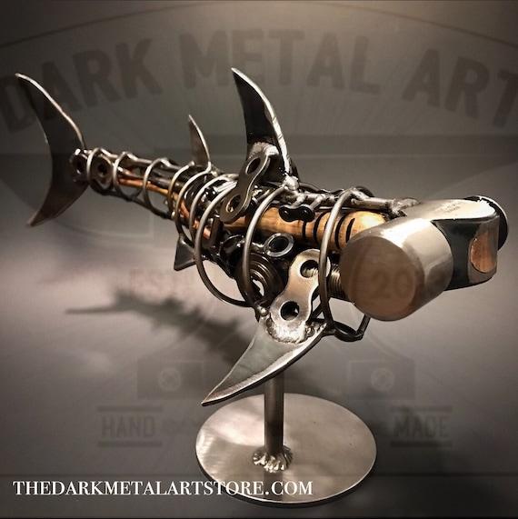 Metal Hammerhead Shark Sculpture