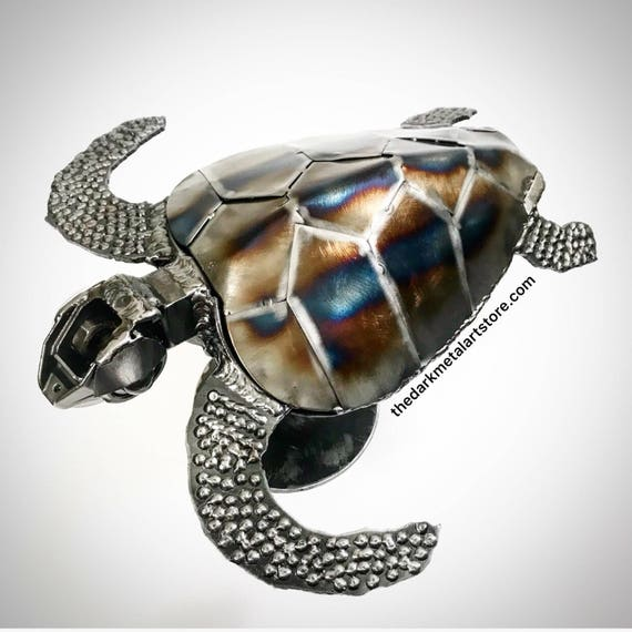 Metal Art Sea Turtle