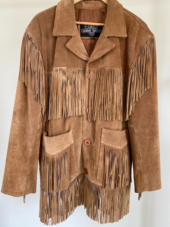 Vintage Western Fringe Suede Jacket by Leather Gal
