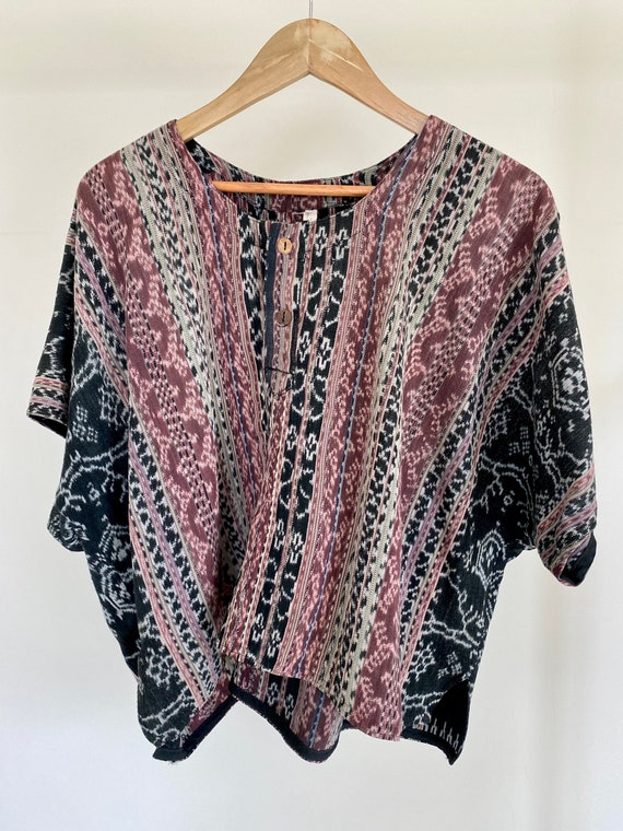 Indonesian Short Sleeve Bohemian Shirt