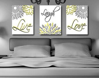 Canvas Wall Art, Live Laugh Love, Bedroom Canvas Wall Art, Bedroom Decor,