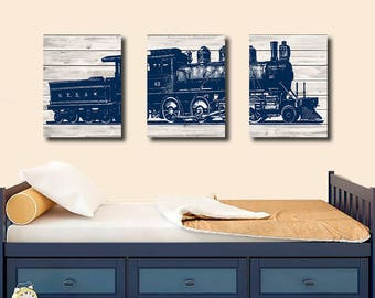 Canvas, Train Bedroom Wall Decor, Train Decor, Boy Bedroom Wall Decor, Boy  Bedroom Wall Art, Train Wall Decor, Train Wall Art, Playroom Art