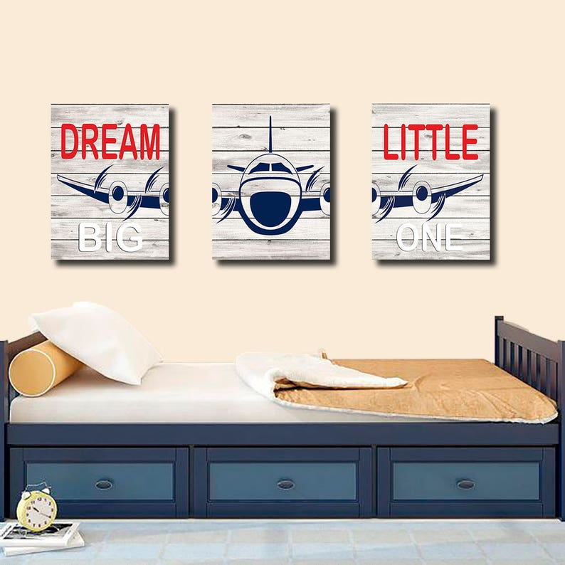 Peachy Canvas Airplane Bedroom Wall Decor Airplane Decor Dream Big Little One Boy Bedroom Wall Decor Boy Bedroom Wall Art Airplane Wall Decor Home Interior And Landscaping Synyenasavecom
