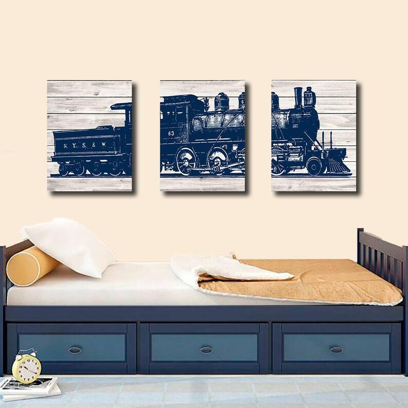 Canvas, Train Bedroom Wall Decor, Train Decor, Boy Bedroom Wall Decor, Boy  Bedroom Wall Art, Train Wall Decor, Train Wall Art, Playroom Art