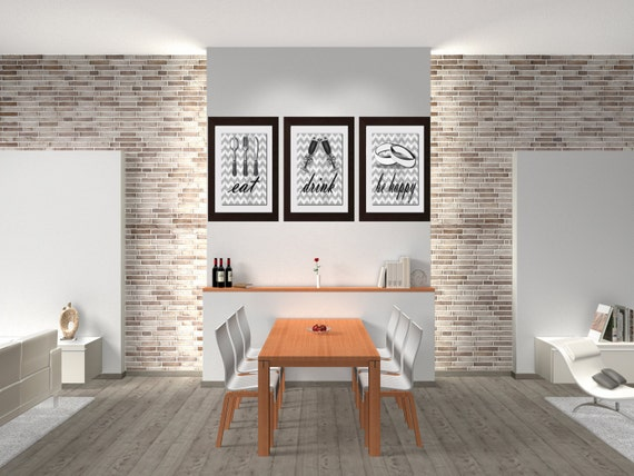 Eat Drink Be Happy, Kitchen Wall Decor, Dining Room Wall Art, Kitchen  Decor, Dining Room Wall Decor, Kitchen Decor, Farmhouse Decor
