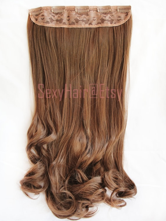 24 Chestnut Brown Hair Extension Clip In Clip On One Etsy