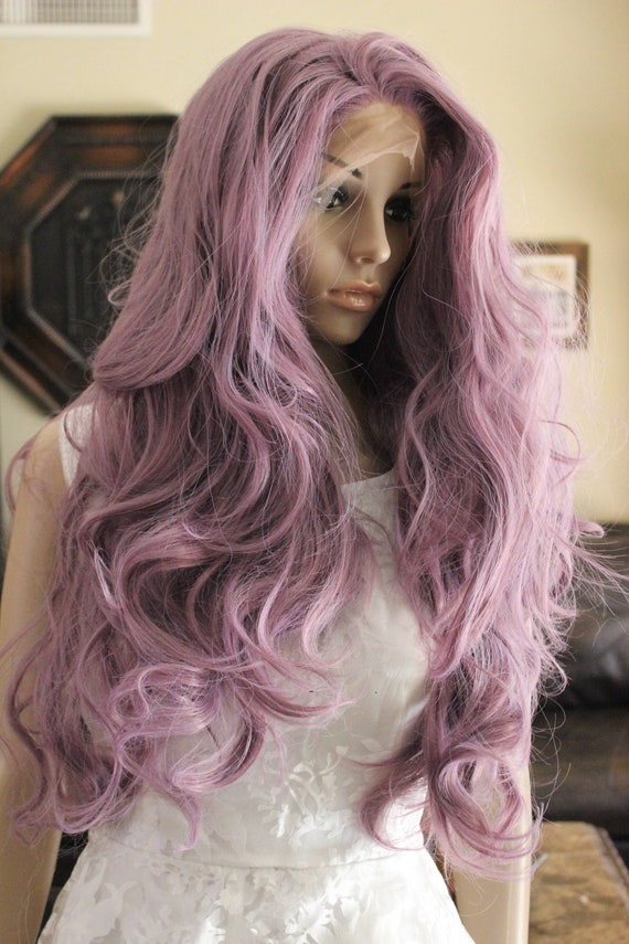 Ready To Ship Purple Front Lace Wig Unicorn Fairy Wig Rave Etsy