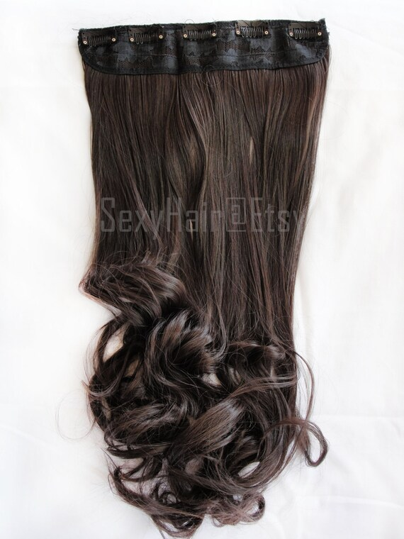 24 Medium Brown Hair Extensions Extensions Chocolate Brown Hair Extensions One Piece Multi Weft Clip In Extension Volume And Length