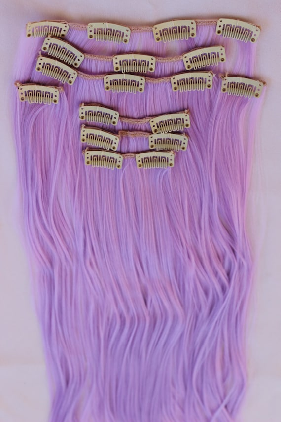 Ready To Ship 24 Purple Hair Extensions Halloween Hair Etsy