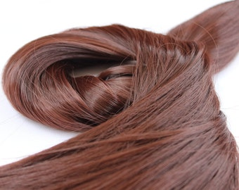 """24"""" Dark Auburn Hair Extension,One Piece Multi-Weft Clip in Extension, Clip On, Thick Hair, Long Hair, Synthetic - Volume and Length"""