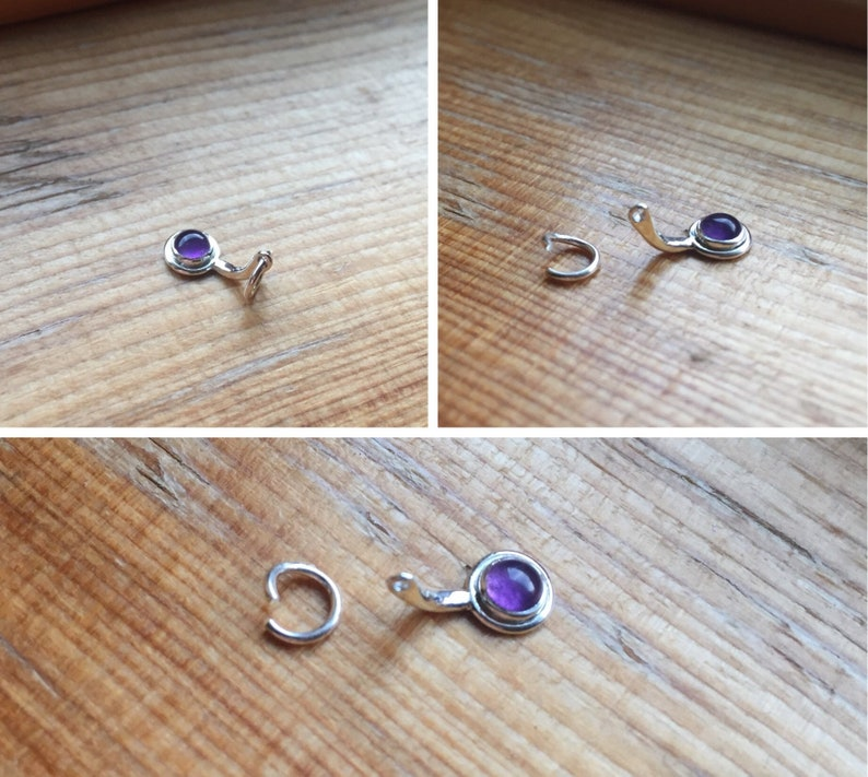 Saturn Belly Button Barbell piercings body jewelry simple minimal iolite classy petite rings .999 fine sterling silver 14k solid gold fill