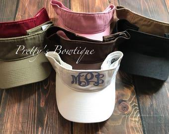 Monogrammed visor Hat- Womens golf visor- Monogram visor -Monogram Graduation -Womens visor hat -bridesmaids hats, Bridesmaid gift-