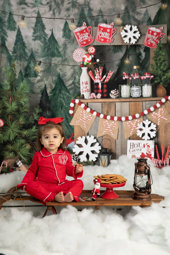 Christmas Pajamas for Kids Monogrammed in Sizes 0-3 Months to  ef2bcf619