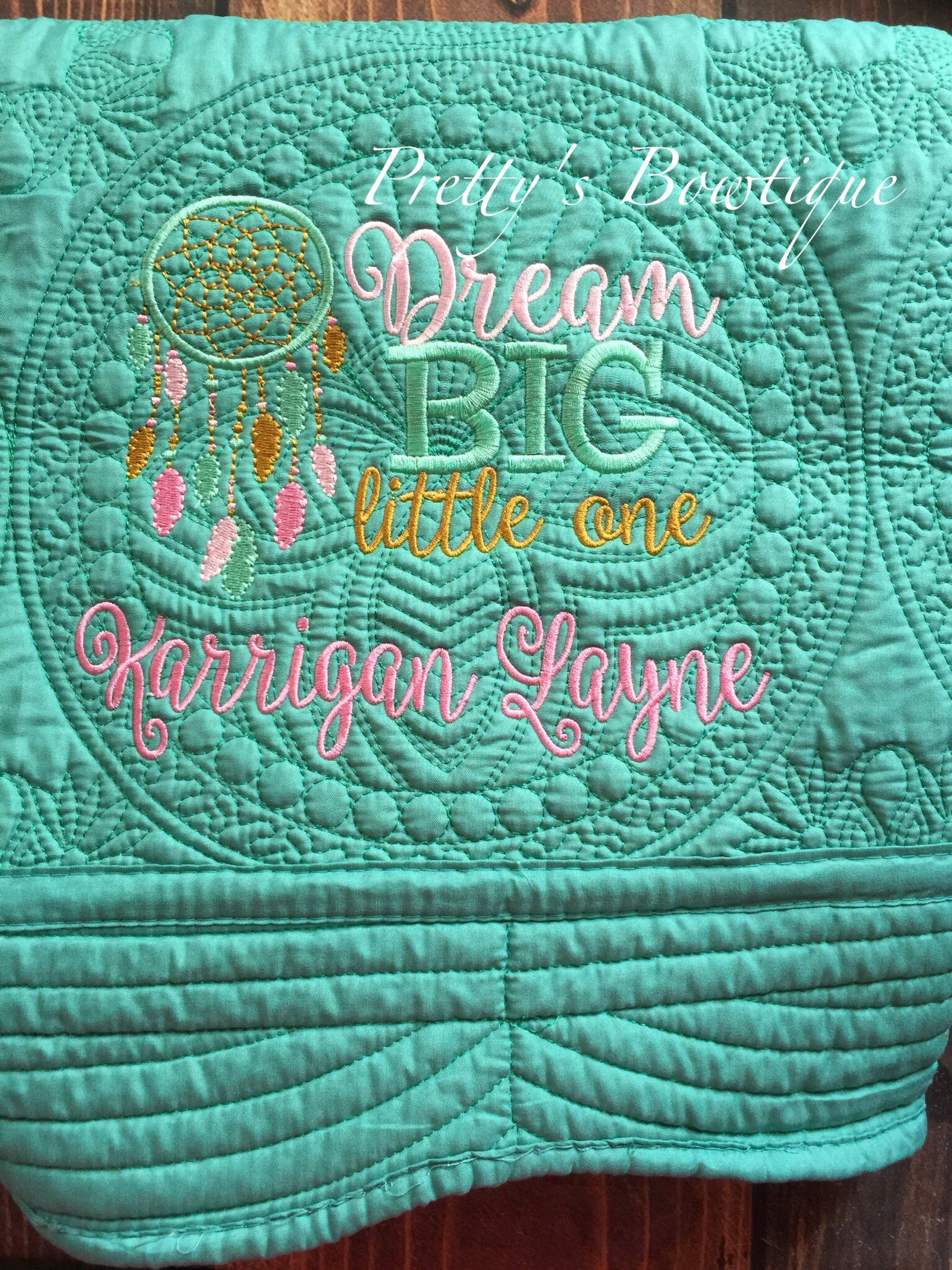Monogrammed Baby Quilt Personalized Baby Quilt Cotton Etsy