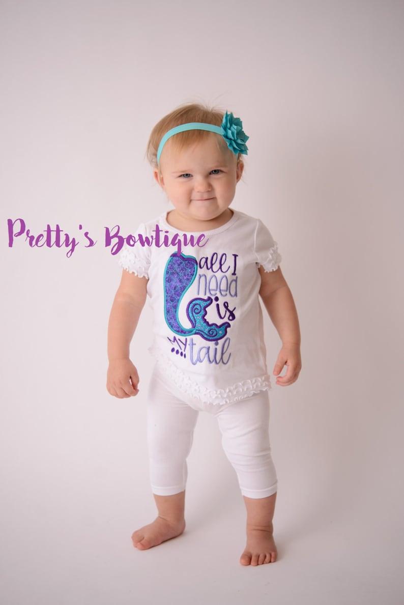 Beach Shirt-- little girls outfit Girls Mermaid bodysuitShirt Girls beach shirt Mermaid Life All I need is my tail shirt