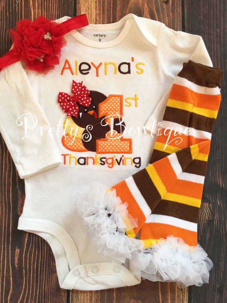 e8883ec60 Girls Thanksgiving outfit 1st Thanksgiving Shirt or One | Etsy