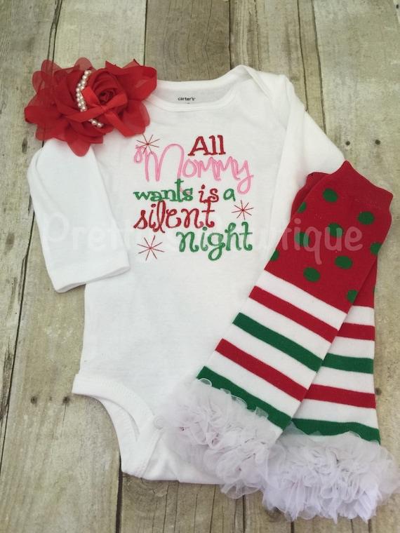 95faadfaf All Mommy Wants is a Silent Night Baby Girl Christmas Clothes | Etsy